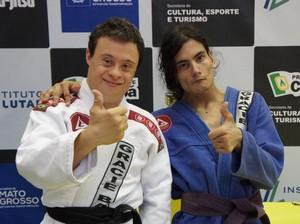 Fabrício e Thiago participaram do Estadual de Jiu-Jitsu (Foto: Júnior Martins/FMTJJLA)