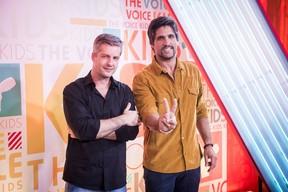 Victor & Léo são jurados do The Voice Kids (Foto: Globo/João Cotta)