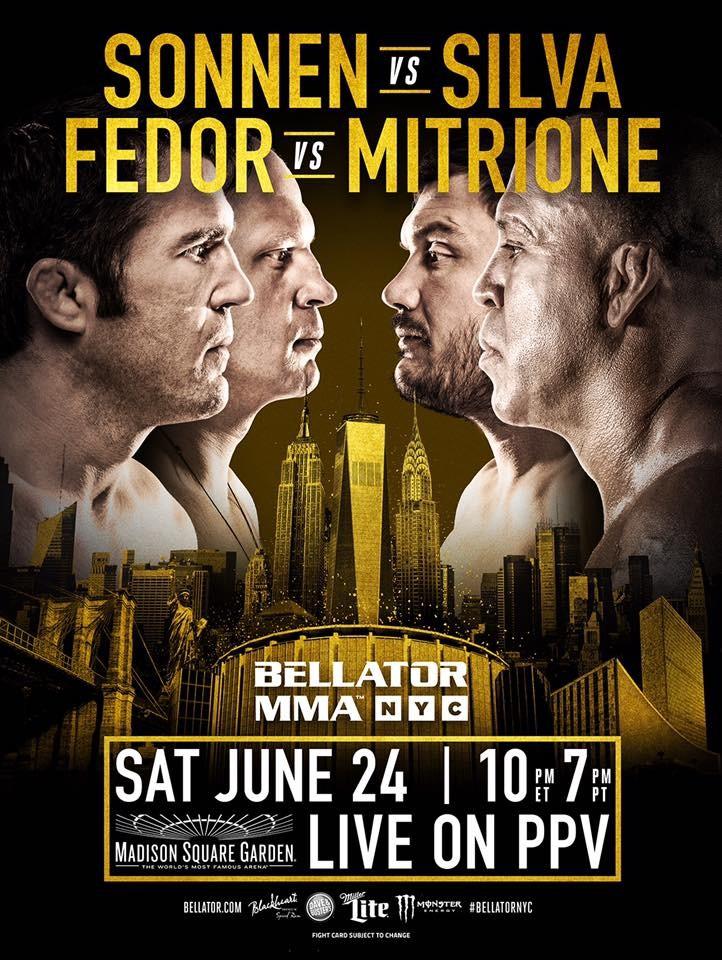 BLOG: Bellator divulga pôster do evento em NY com Sonnen, Wand, Fedor e Mitrione