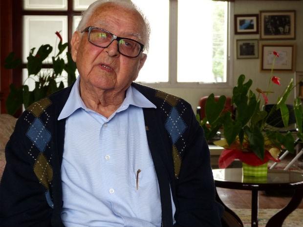 Emílio Gomes estava no primeiro mandato como deputado, quando a Presidência da República foi decretada vaga (Foto: Bibiana Dionísio/ G1)