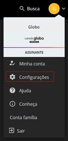 Configurações Site - Canais Globo (Foto: Canais Globo)