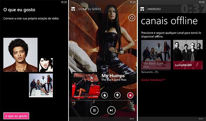 Nokia MixRadio é aplicativo de streaming de músicas gratuito para Windows Phone com suporte a reprodução offline (Foto: Reprodução/Elson de Souza)