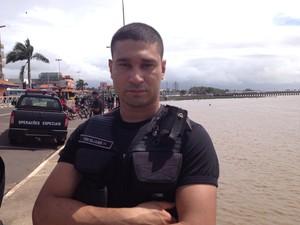 Tenente do Bope, Eliabe da Silva (Foto: Dyepeson Martins/G1)