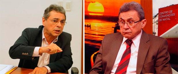 Secretários Antônio Alber da Nóbrega e Francisco Obery Rodrigues Júnior (Foto: Ricardo Araújo/G1)
