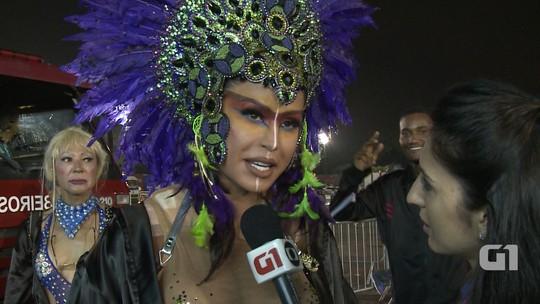 Gracyanne chega para fechar desfiles de SP: 'Quero animar a avenida'