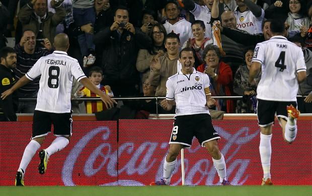 Roberto Soldado Valencia Atlético de Madri (Foto: AP)