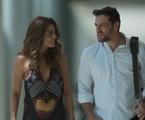 Juliana Paes e Rodrigo Lombardi no final feliz de Bibi e Caio em 'A força do querer'   Reprodução