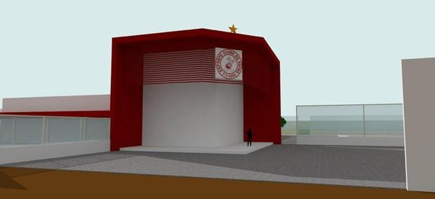 Maquete do Centro de Treinamento do Esporte de Patos (Foto: Divulgação / Esporte de Patos)