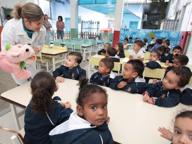 Alunos de educação infantil (Foto: Francisco Arrais)