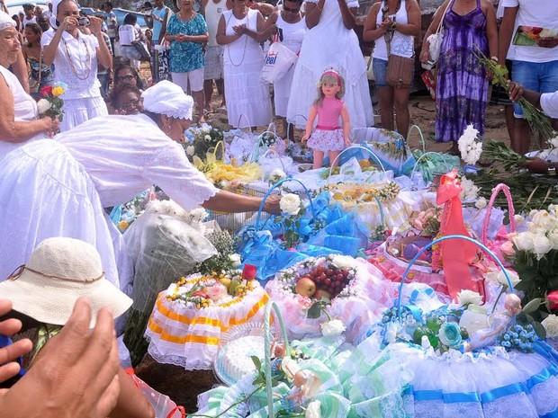 Festa de Iemanjá 2014 em Salvador (Foto: Joilson César / Ag Haack)