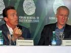 Em visita a Manaus, Schwarzenegger defende ambientalismo 'sexy'