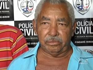Homem de 73 anos conhecido como 'Vovô do tráfico' no MA (Foto: Reprodução/TV Mirante)