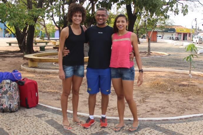 Letícia Lima, Nilson de Sousa e Franceile Cerqueira (Foto: Joana D'arc Cardoso)