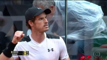 Andy Murray vence Djokovic no Masters 1000  de Roma e volta ao segundo lugar no ranking