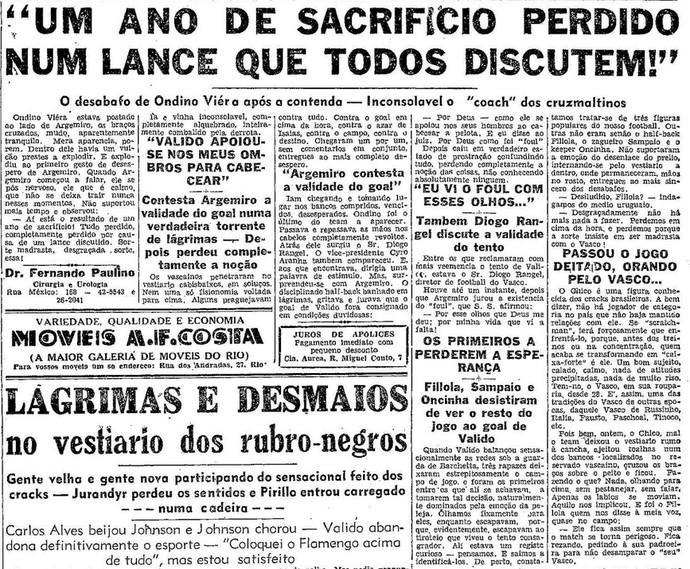 Flamengo tricampeão 1944 página 16 O Globo (Foto: Reprodução)