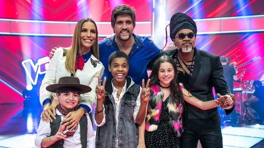 Técnicos do 'The Voice Kids' avaliam trajetória dos finalistas do reality musical