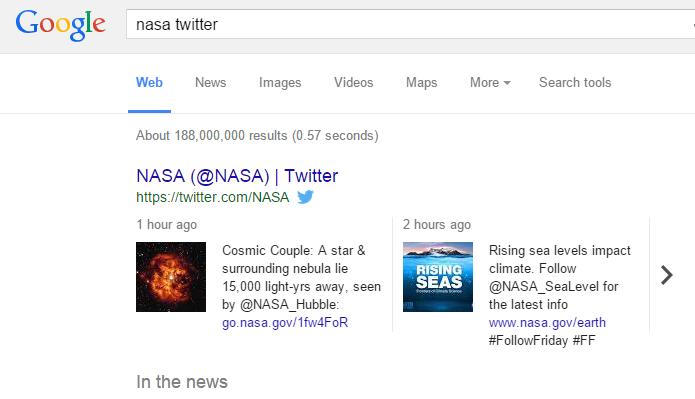 Resultados do Google mostram tuítes relacionados no desktop (Foto: Reprodução/Google)