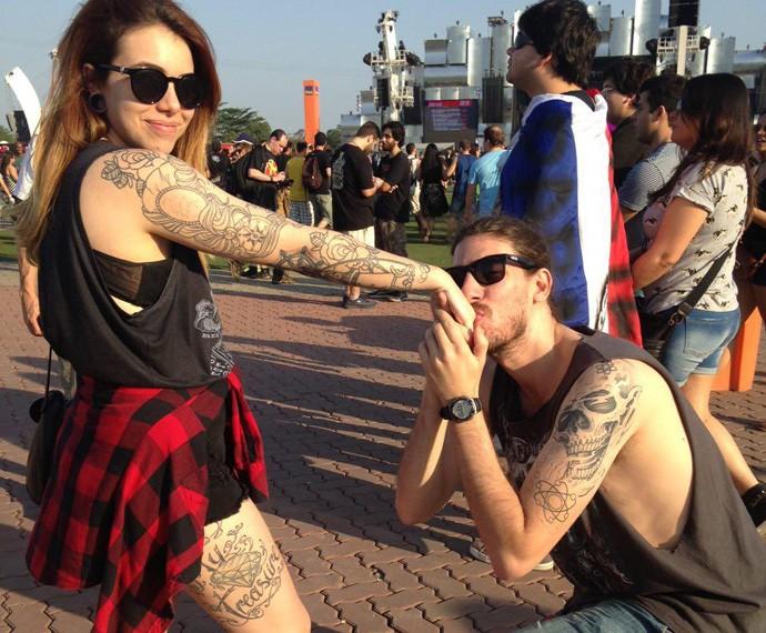 Vinicius Guimarães e Gabriella Schiavo se conheceram através de um aplicativo de relacionamento (Foto: Gshow)