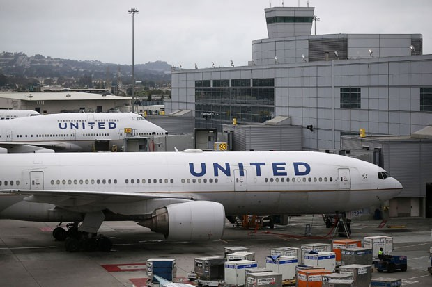 Aviões da United Airlines (Foto: Justin Sullivan/Getty Images)