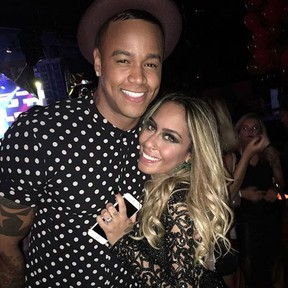 Leó Santana e Rafaella Santos em festa em São Paulo (Foto: Instagram/ Reprodução)