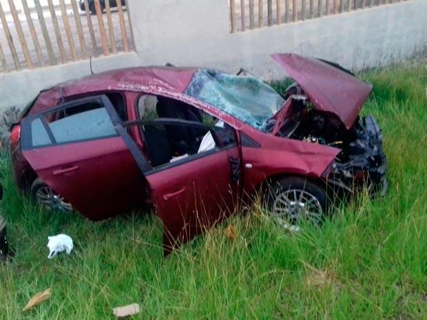 Outras três pessoas ficaram feridas no acidente (Foto: Jefferson Teixeira/Blog Verdinho Itabuna)