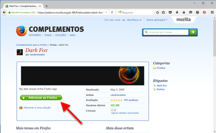 Clique em Adicionar ao Firefox (Foto: Felipe Alencar/TechTudo)