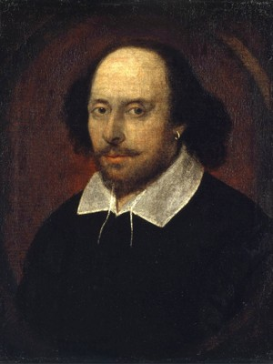 Pintura mostra o artista William Shakespeare.