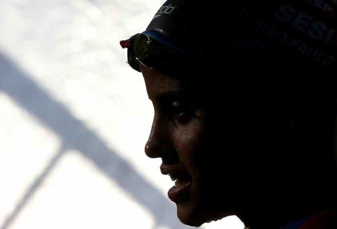 Etiene Medeiros - 50m costas- Open de natação (Foto: Satiro Sodré/SMPRESS)