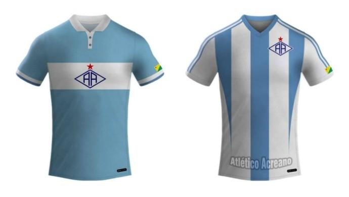 Novos uniformes do Atlético-AC para a Série D 2016 (Foto: Divulgação/Ascom Atlético-AC)