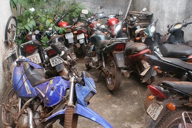Motocicletas apreendidas durante a operação em Aragominas e Muricilândia, no interior do Tocantins (Foto: Divulgação/Polícia Civil)