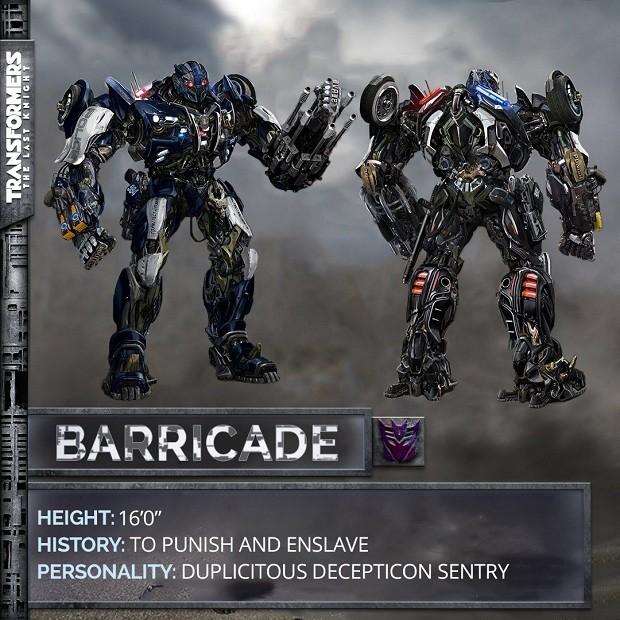 Decepticon Barricade em Transformers: O Último Cavaleiro (Foto: Divulgação)