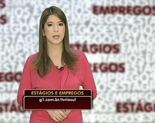 Estágios e empregos com Aline Franco (Foto: Reprodução: Bom Dia Rio)