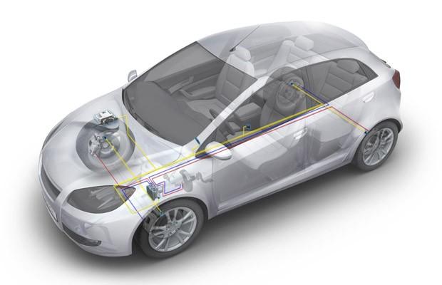 Hardware do controle de estabilidade dentro de um carro (Foto: Divulgação/Bosch)
