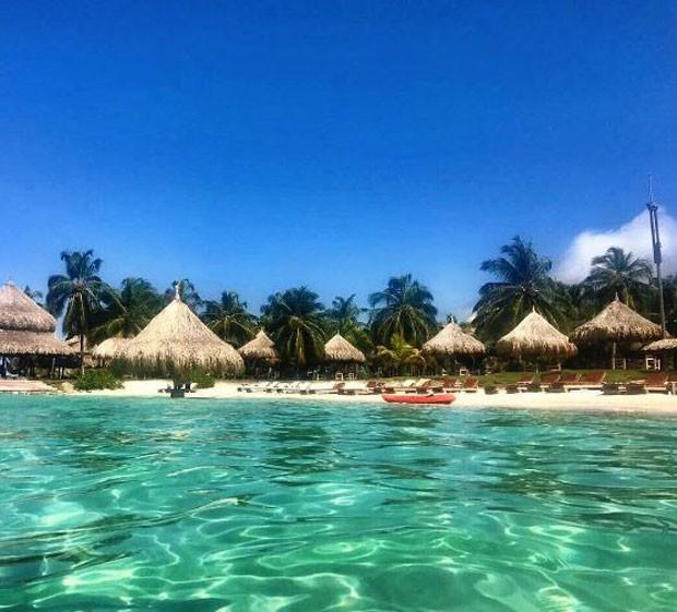 Hotel de Vanessa em Isla Múcura (Foto: Reprodução/Instagram)