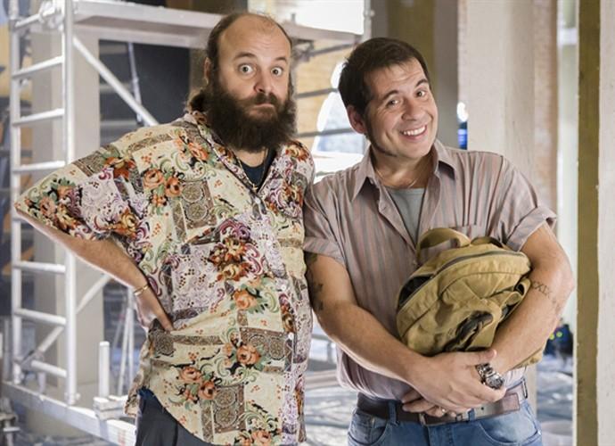 Os dois decidem investir em clube abandonado (Foto: Tata Barreto / TV Globo)