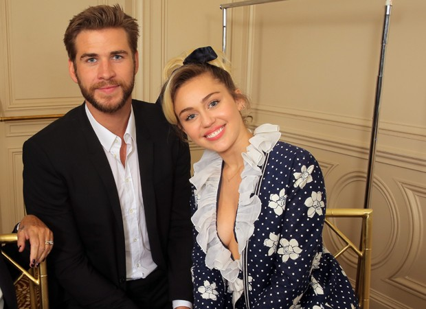 Miley Cyrus e Liam Hemsworth (Foto: The Grospy Group)
