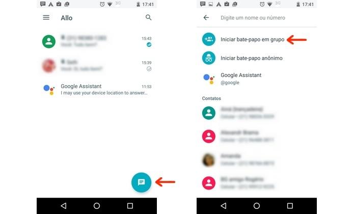 Caminho para abrir chat em grupo do Google Allo para Android (Foto: Reprodução/Raquel Freire)