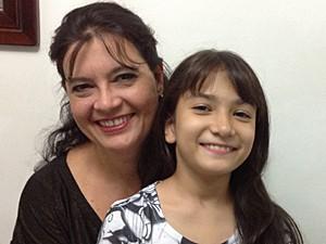 Célia e a filha caçula, Danielle (Foto: Arquivo pessoal)