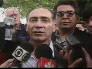 Morre Lino Oviedo, candidato à presidência do Paraguai (Foto: Reprodução Globo News)