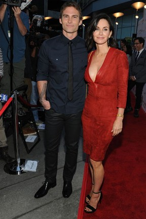 Seann William Scott e Courteney Cox em première em Los Angeles, nos Estados Unidos (Foto: Angela Weiss/ Getty Images/ AFP)