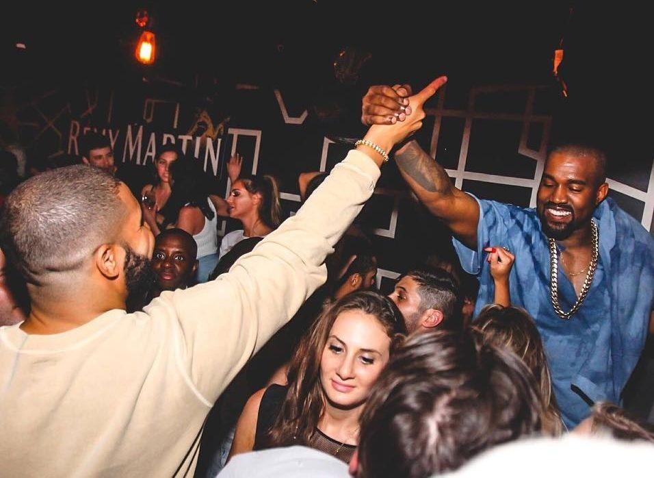 Drake e Kanye eram amigos e chegaram a planejar projetos juntos (Foto: Reproduo/Instagram)