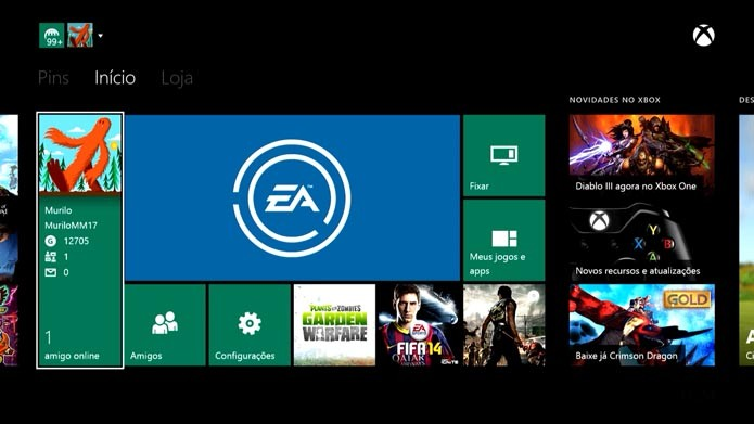 Xbox One: como postar, comentar e compartilhar no novo feed do console (Foto: Reprodução/Murilo Molina)