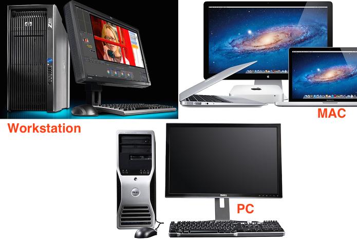 Mac, PC, Workstation e mais usam em conjunto hardwares e softwares (Foto: Reprodução/TechTudo)
