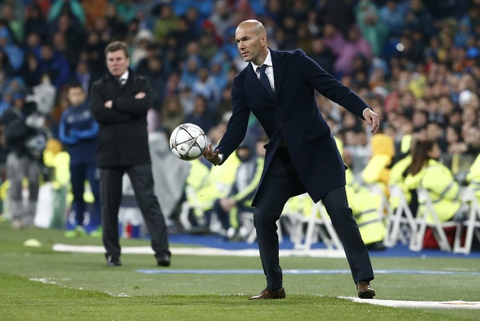 Zidane Real Madrid x Wolfsburg (Foto: Reuters)