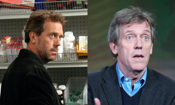 Hugh Laurie na primeira temporada de House e atualmente (Foto: Divulgao)
