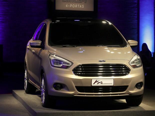 Ford Ka Concept sedã foi apresentado nesta segunda-feira (3), em São Paulo (Foto: REUTERS/Paulo Whitaker)