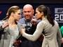Encarada surpresa entre Amanda e Ronda coroa primeira pesagem em NY