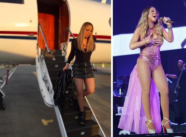 A cantora Mariah Carey na foto supostamente editada (Foto: Instagram/Getty Images)