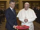 Papa e Macri falam de pobreza, drogas e reconciliação nacional