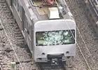 Trem falha e é depredado por passageiros no Subúrbio do Rio (Reprodução/TV Globo)